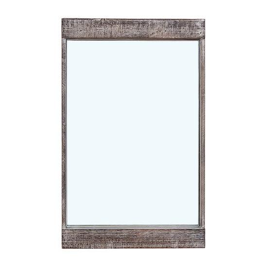 Danya B 32 X 20 In Distressed Wood Framed Wall Mirror