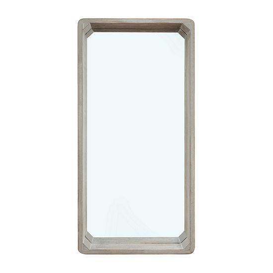 Danya B 32 X 15.75 In Distressed White-Wash Wood Wall Mirror