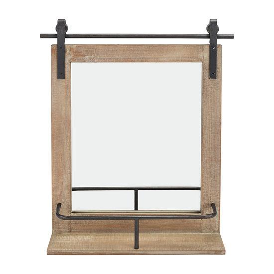 Danya B Wood Barn Door Wall Mirror