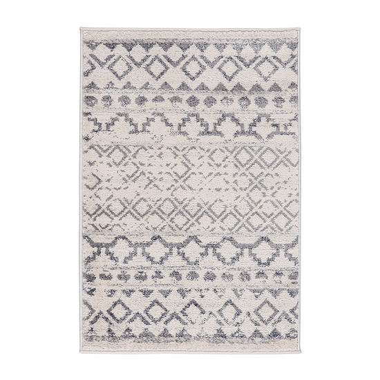 World Rug Gallery Traditional Distressed Bohemian Rectangular Indoor Rugs