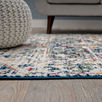 World Rug Gallery Transitional Distressed Bohemian Design Rectangular Indoor Rugs
