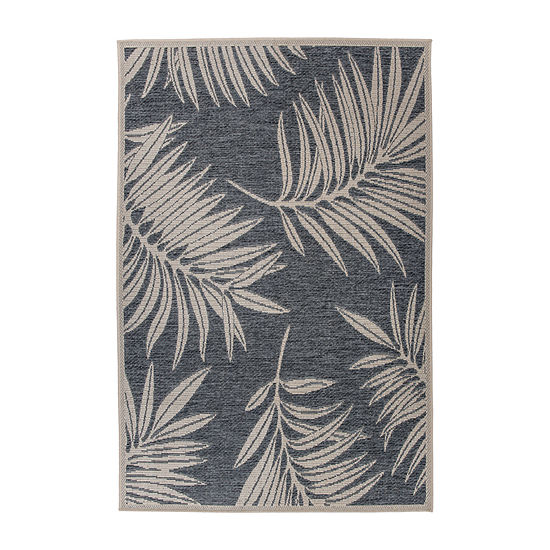 World Rug Gallery Contemporary Floral Rectangular Indoor/Outdoor Rugs