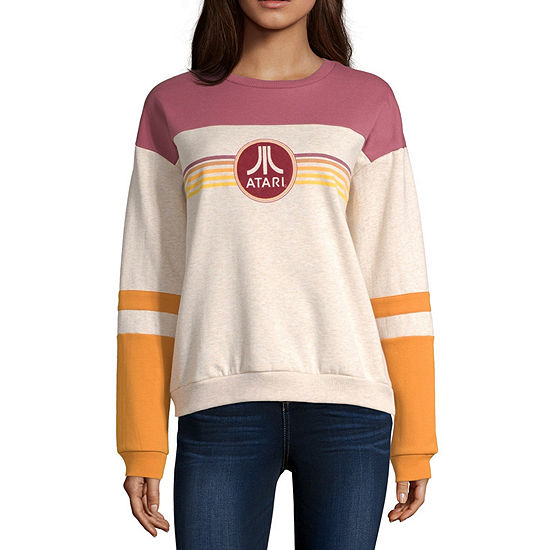 Atari Juniors Womens Crew Neck Long Sleeve Sweatshirt