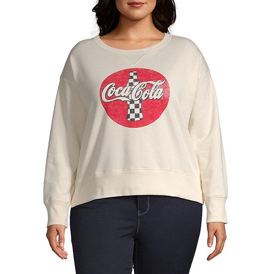 Womens Crew Neck Long Sleeve Sweatshirt Juniors Plus