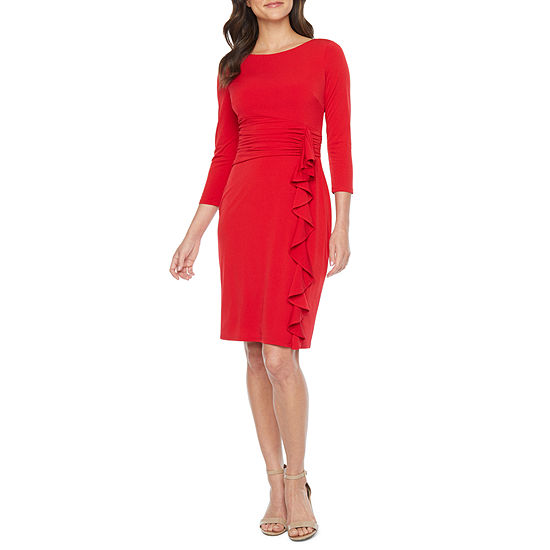 Jessica Howard 3/4 Sleeve Sheath Dress