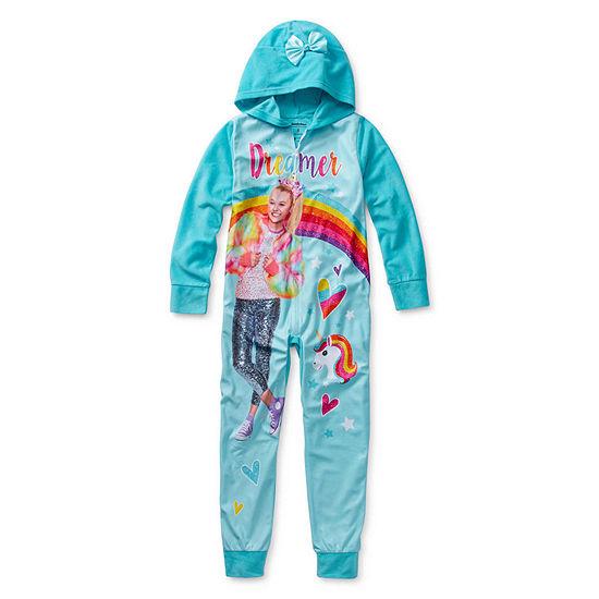 Jojo Siwa Girls Microfleece One Piece Pajama Long Sleeve