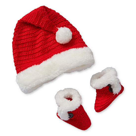 Babydeer Unisex Christmas Santa Hat Set Crib Shoes