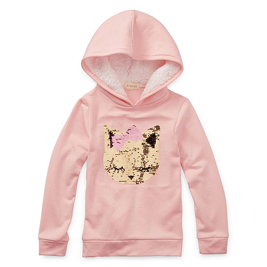 Btween-Big Kid Girls Cuffed Sleeve Hoodie