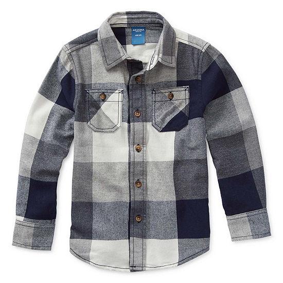 Arizona Boys Long Sleeve Flannel Shirt Preschool / Big Kid
