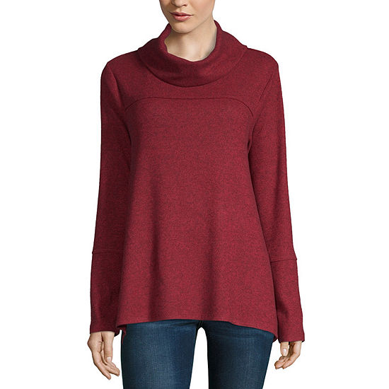 Artesia Womens Cowl Neck Long Sleeve Pullover Sweater