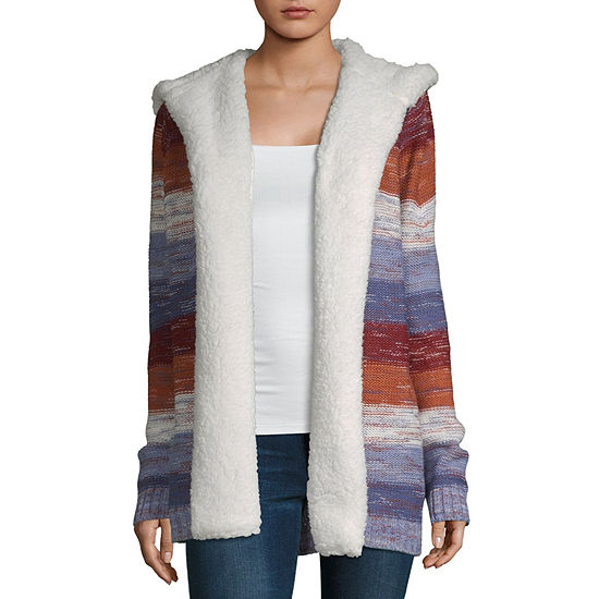 Almost Famous Long Sleeve Ombre Cardigan-Juniors