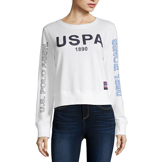 Us Polo Assn. Juniors Womens Round Neck Long Sleeve Sweatshirt