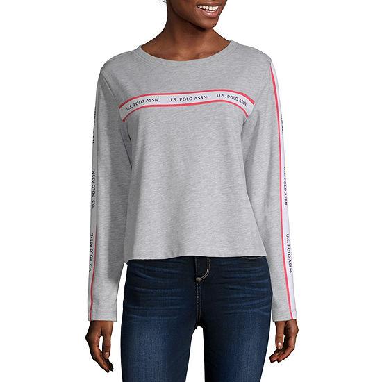 Us Polo Assn. Juniors-Womens Round Neck Long Sleeve T-Shirt
