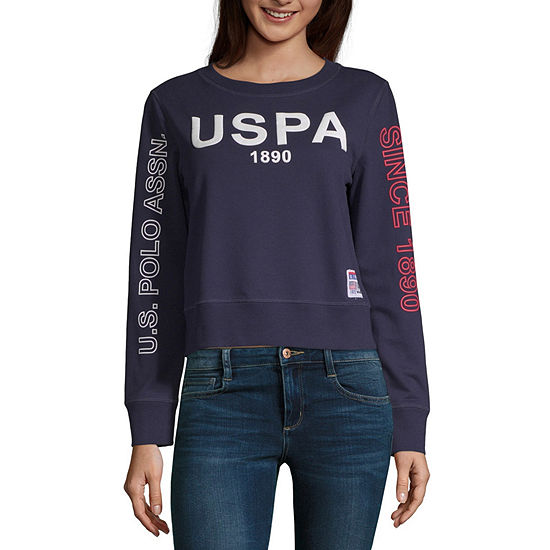 Us Polo Assn. Juniors Womens Round Neck Long Sleeve Sweatshirt