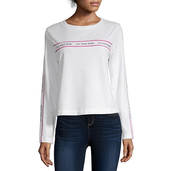 Us Polo Assn. Womens Round Neck Long Sleeve Sweatshirt Juniors