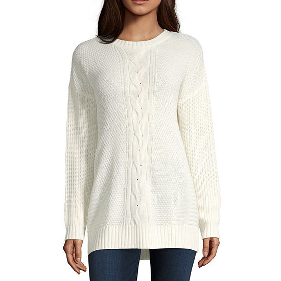 Arizona-Juniors Womens Long Sleeve Pullover Sweater