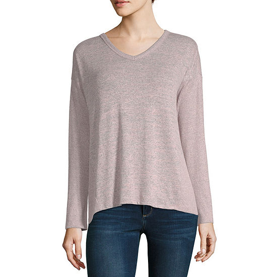 a.n.a Womens V Neck Long Sleeve Tunic Top