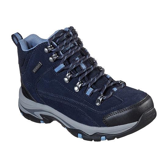 Skechers Womens Trego    Alpine Trail Hiking Boots Flat Heel