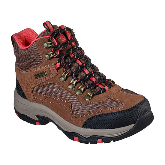 Skechers Womens Trego    Base Camp Hiking Boots Flat Heel