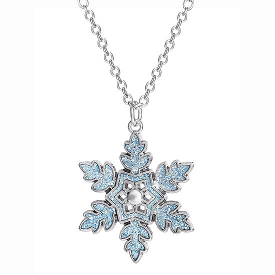 "Disney Girls Frozen 2 Snowflake Pendant Necklace 16 + 2"" Chain"