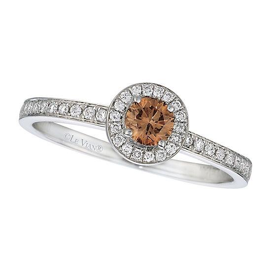 Le Vian Grand Sample Sale™ Ring featuring Chocolate Diamonds® & Vanilla Diamonds® set in 14K Vanilla Gold®