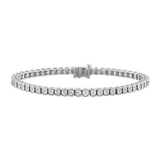 1/2 CT. T.W. Lab Grown Diamond Sterling Silver 7.5 Inch Tennis Bracelet