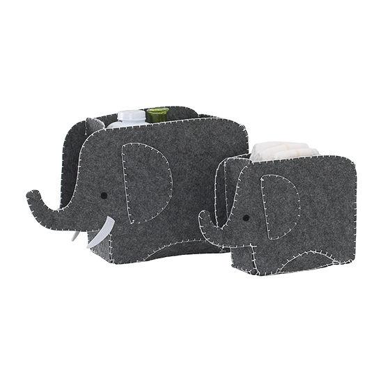 Nojo Little Love By Nojo Elephant 2-pc. Storage Bin