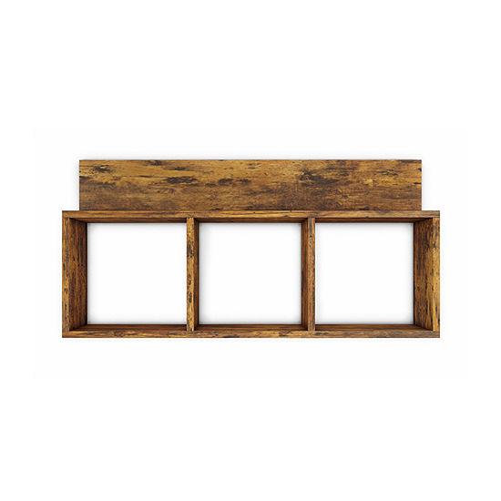 Danya B Rustic Triple Cubed Wall Shelf