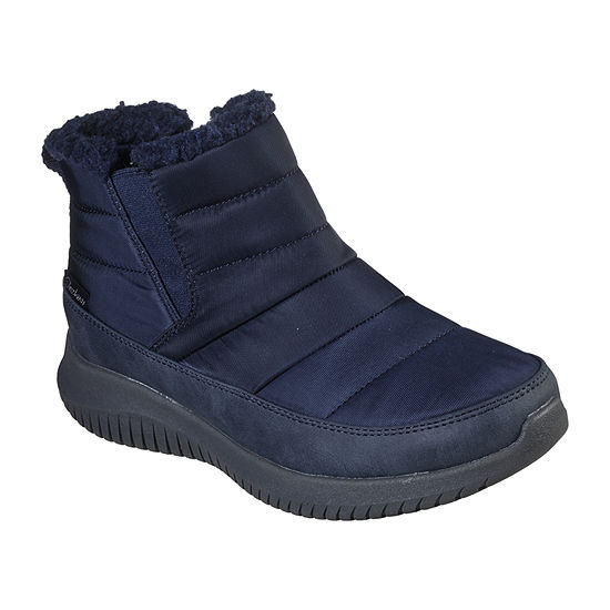 Skechers Womens Ultra Flex Shawty Wate/Slip Resistant Winter Boots