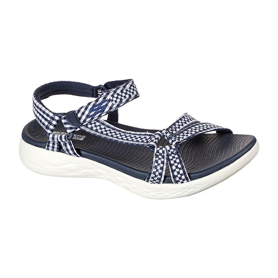 Skechers On-The-Go 600 - Classic Womens Ankle Strap Footbed Sandals