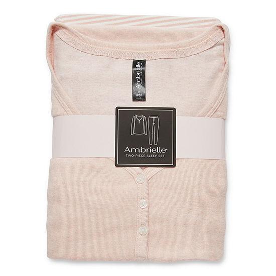 Ambrielle Womens-Plus Long Sleeve Pant Pajama Set 2-pc.