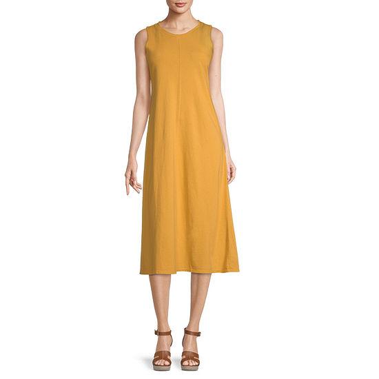 a.n.a-Tall Sleeveless Midi Shift Dress