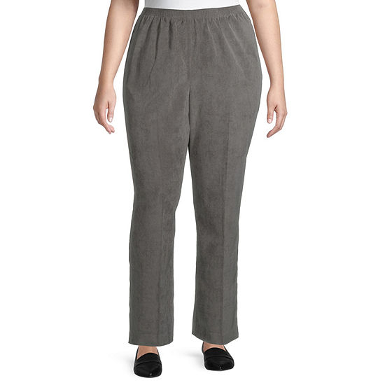 Alfred Dunner Womens Straight Corduroy Pant