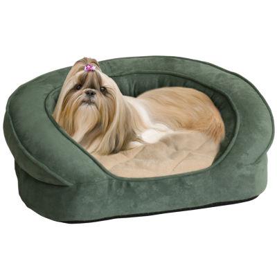 K&H Deluxe Ortho Bolster Microsuede Sleeper Pet Bed