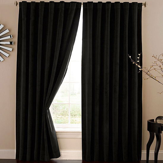 Absolute Zero Rod Pocket Back Tab Blackout Home Theater Curtain