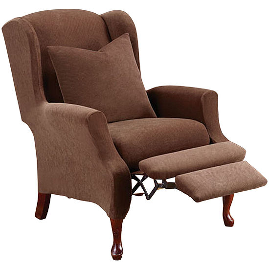 Pleasant Sure Fit Stretch Pique 2 Pc Wing Recliner Slipcover Jcpenney Ibusinesslaw Wood Chair Design Ideas Ibusinesslaworg