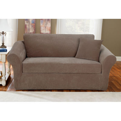 SURE FIT® Stretch Piqué 3-pc. Loveseat Slipcover