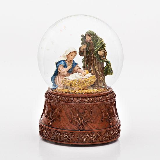 Joseph's Studio Holy Family  Musical Glass Glitterdome