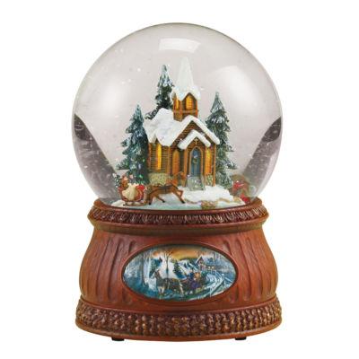 Joseph's Studio Sleigh Ride Musical Glass Glitterdome