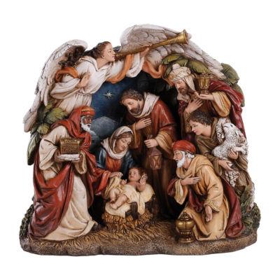 "Roman 9"" Angel Arching Over Nativity Figurine"