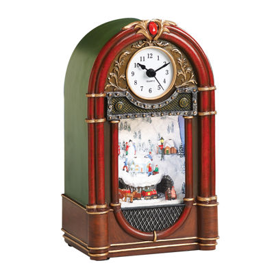 "Roman Musical 9.5"" Led Vintage Radio Clock"