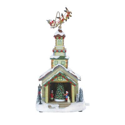 Roman Musical LED Church Figurine