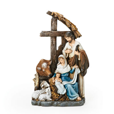"Joseph's Studio 11"" Holy Family with Cross Nativity Figurine"