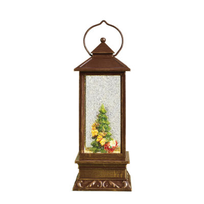 "Joseph's Studio 11"" LED Lantern with Christmas Tree"