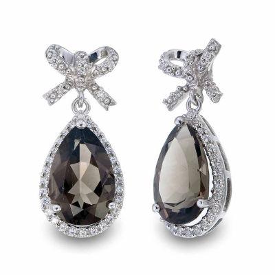 Quartz Sterling Silver Drop Earrings