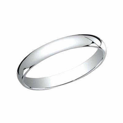 Womens 3 Mm Platinum Wedding Band