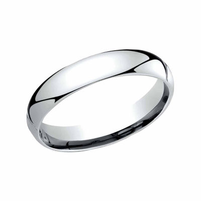 Unisex 4 Mm Platinum Wedding Band