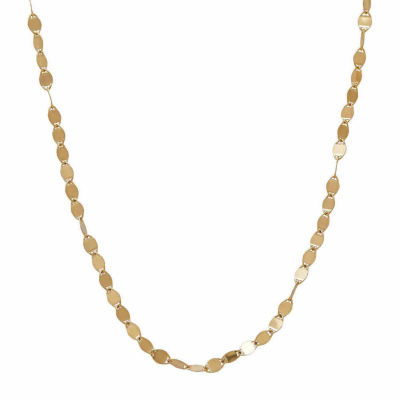 LIMITED QUANTITIES! 14K Yellow Gold Polished 2.15mm Flat Link Chain Necklace