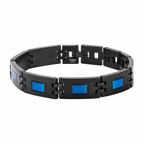 Mens 10 Inch Stainless Steel Link Bracelet