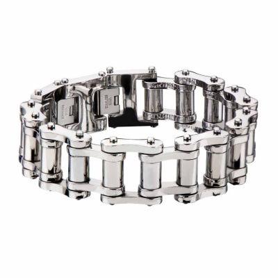 Stainless Steel 10 Inch Solid Link Link Bracelet